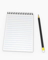 Notebook with pencil 1