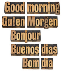 Good morning in five languages