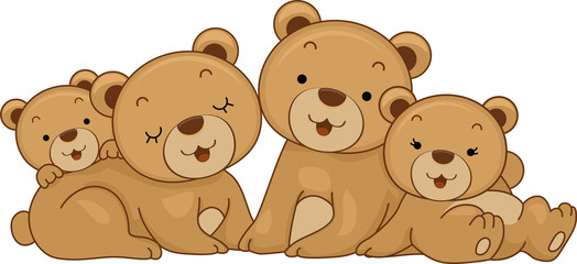 Canvas Prints Bears Bear Family