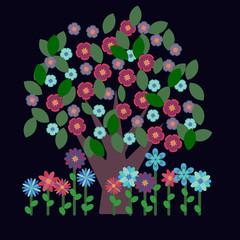 Decorative tree in blossom