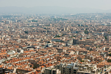 View from Marseille city, France