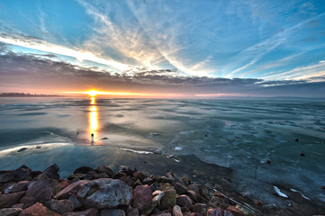 Frozen Lake of Balaton