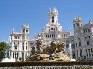 Acrylic Prints Historical buildings Cibeles Fountain and Cibeles Palace, Madrid