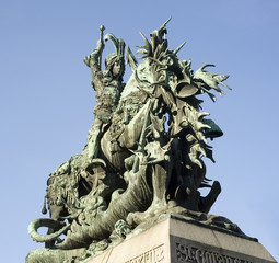 The statue of St. George and the Dragon