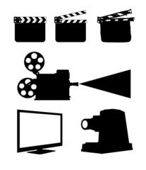 Cinema Icon Set on white