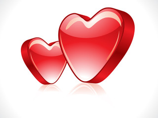 abstract red glossy heart