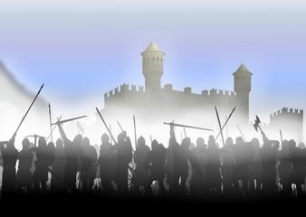infantry in the fog