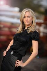 Beautiful blond fashion model