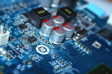 Fototapete - electric circuit