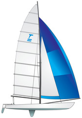 Sailboat Tornado class vector image