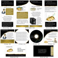 Gold stationary