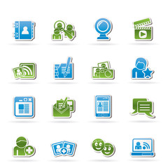 social networking and communication icons