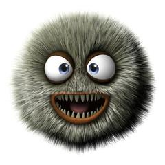 Spoed Fotobehang Sweet Monsters furry alien