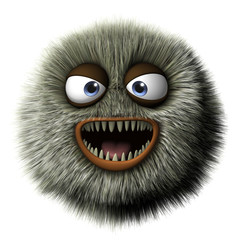 Türaufkleber Nette Monster 3d monster