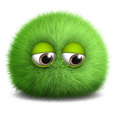 Spoed Fotobehang Sweet Monsters green virus