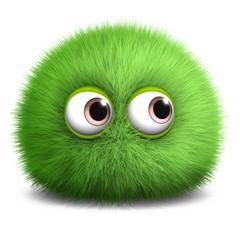 Spoed Fotobehang Sweet Monsters hairy monster