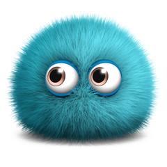 Spoed Fotobehang Sweet Monsters blue monster