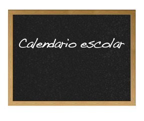 Calendario escolar.
