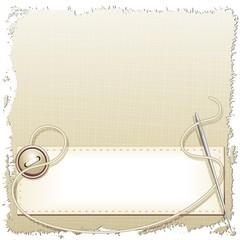 Tessuto Bottone e Ago Cucito-Grunge Texture Fabric Background