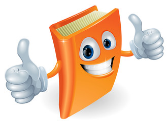 Thumbs up book cartoon character