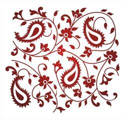 paisley floral pattern, textile design, royal India