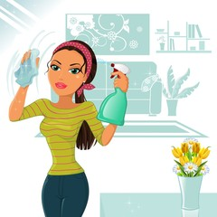 Woman who cleans