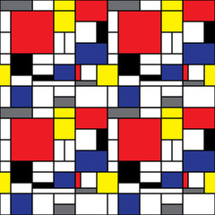 Repeating Mondrian Background