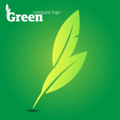 Eco green leaves - logotype
