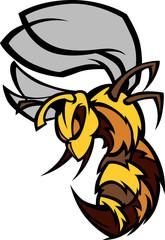 Bee Hornet Graphic Vector Illustration