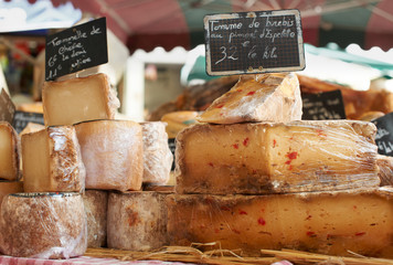 Random French cheese on Provence market