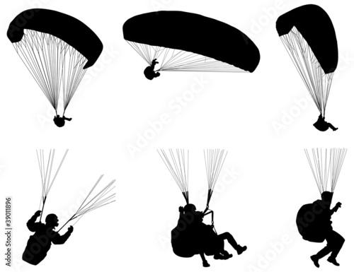 Silhouette de parapente fichier vectoriel libre de - Parapente dessin ...