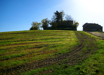トスカーナの田舎道