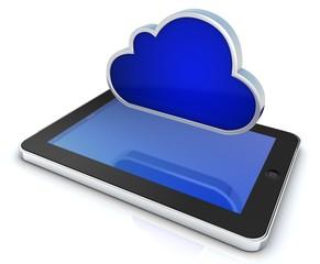cloud mit tablet pc