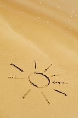 the sun on the sand