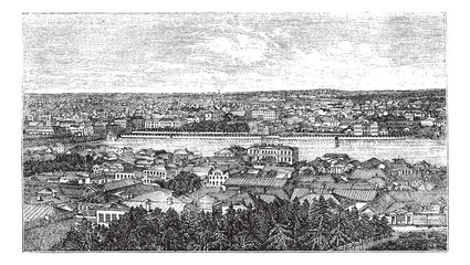 Yekaterinburg or Sverdlovsk in Russia vintage engraving