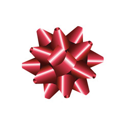Selbstklebende gebundene Geschenkschleife
