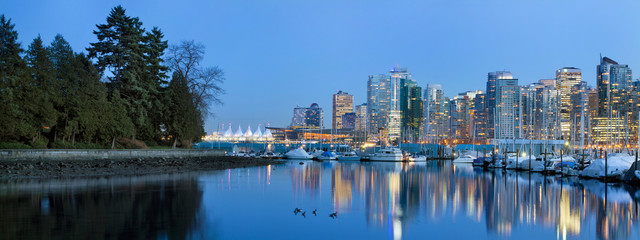 Vancouver BC Skyline from Stanley Park Fotomurales