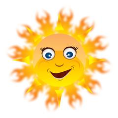 Happy summer sun EPS 10
