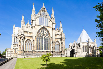 Fotomurales - cathedral of Lincoln, East Midlands, England