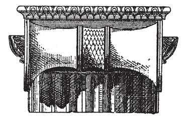 Fig. 2. Ionic Greek side view, vintage engraving.