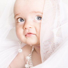 cute little baby. a large portrait of