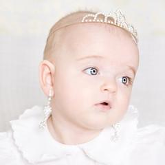cute little baby. a large portrait of