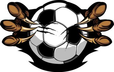 Soccer Ball With Eagle Talons Vector Image Fotoväggar