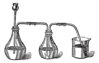 Sulfhydryl acid apparels, vintage engraving.