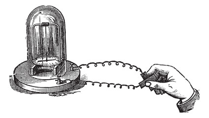 Fig. 2. - Thermoelectric effect, vintage engraving