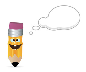 Pencil with speech bubble