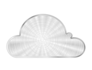 Vector cloud metal icon
