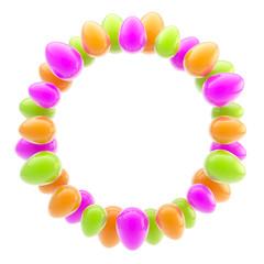 Circular easter egg glossy bright ornament