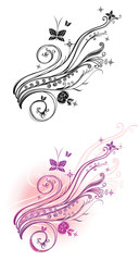 Beautiful floral pattern in two versions