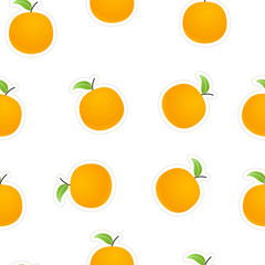 Oranges on white.  seamless background